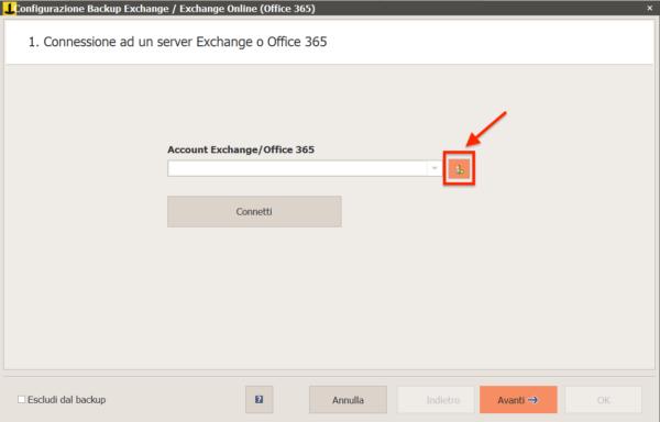Aggiungi account Exchange
